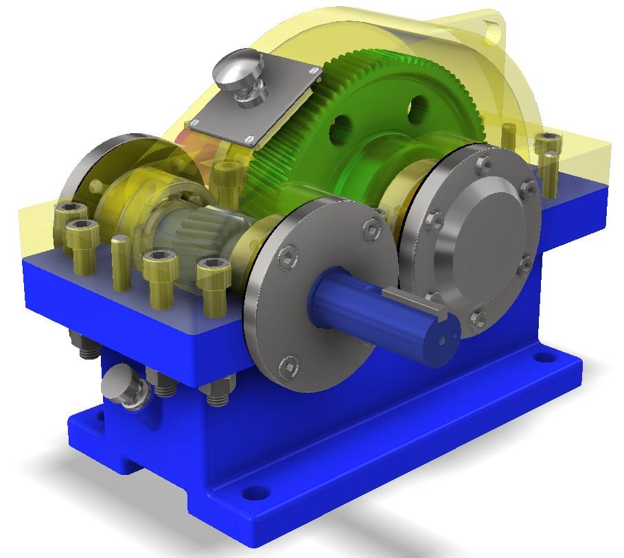 Пример цилиндрического редуктора